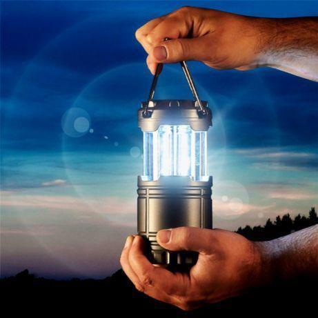 Кемпинговый светодиодный фонарь на солнечных батареях g85 фото №1