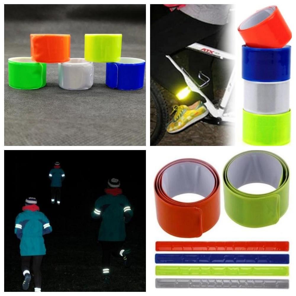 Слеп браслет светоотражающий 30см для безопасности детей и взрослых, фликер фото №1