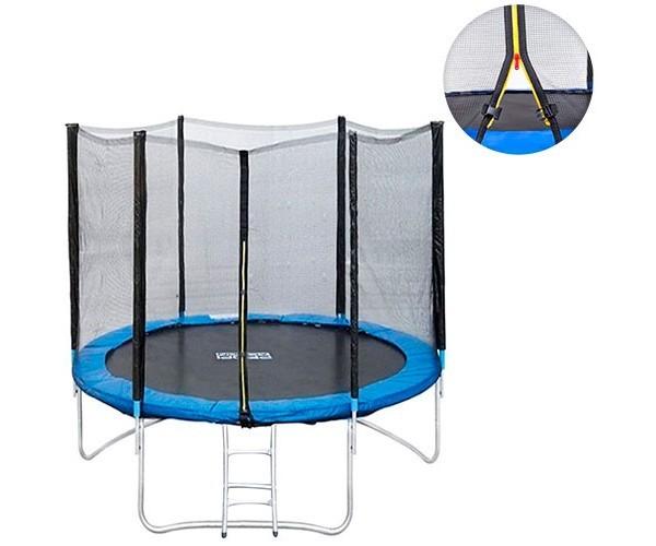 Батут profi ms 0500 диаметр 183 см с лестницей и сеткой на пружинах фото №1