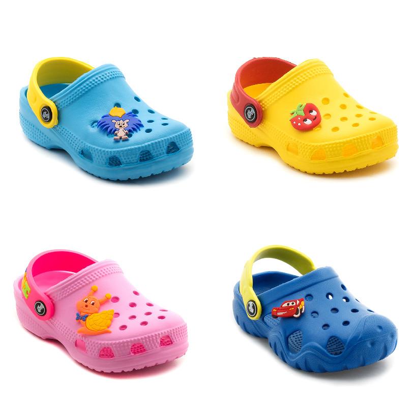Кроксы шлепанцы сабо для мальчика и девочки детская пляжная обувь, р. 20-29 фото №1