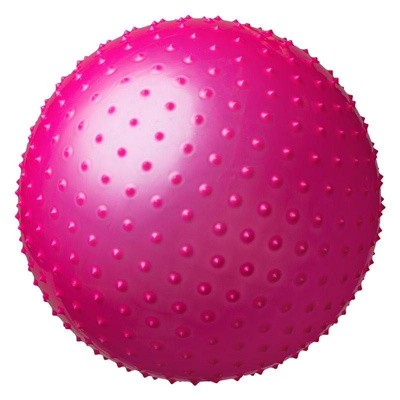 Мяч для фитнеса, фитбол массажный с шипами, 75 см. с насосом - gym ball фото №1