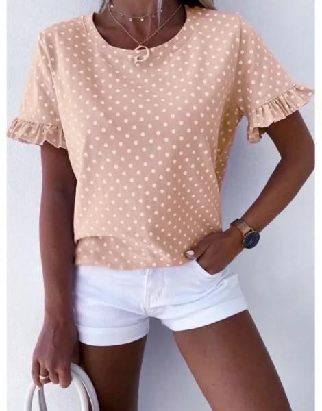 Блуза в горошек фото №1