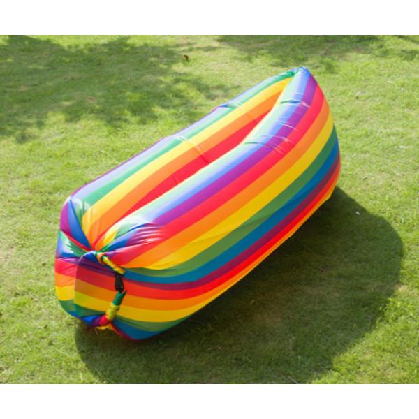 Надувной ламзак lamzac air sofa rainbow шезлонг радуга подходит для воды фото №1