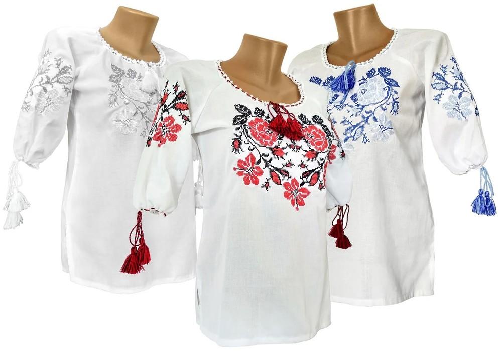 Вышитая блузка вишита сорочка для дівчинки фото №1