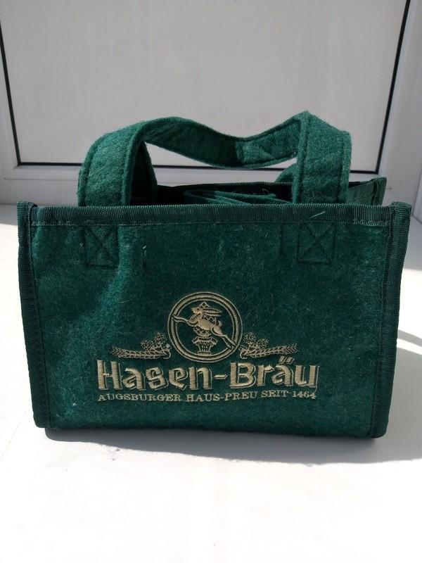 Фирменная сумка переноска для пива hasen bräu оригинал фото №1