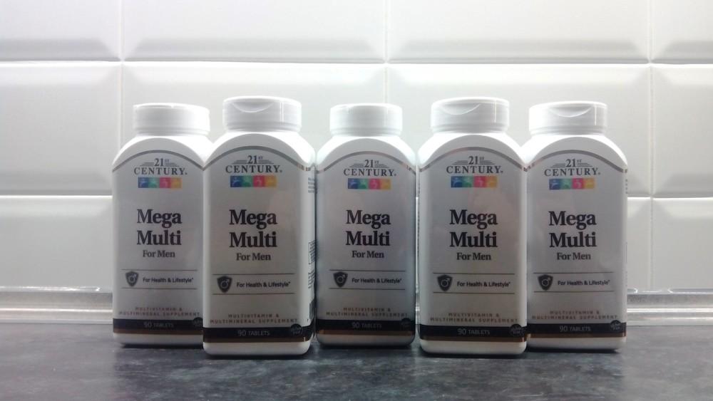 21st century, mega multi for men (90 таб.), мужские витамины фото №1