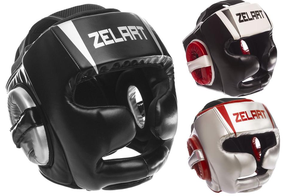 Шлем боксерский с полной защитой zelart 1328 (шлем бокс): размер m-xl (3 цвета) фото №1