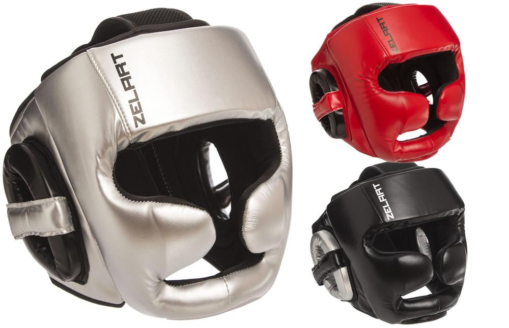 Шлем боксерский с полной защитой zelart 1355 (шлем бокс): размер m-xl (3 цвета) фото №1