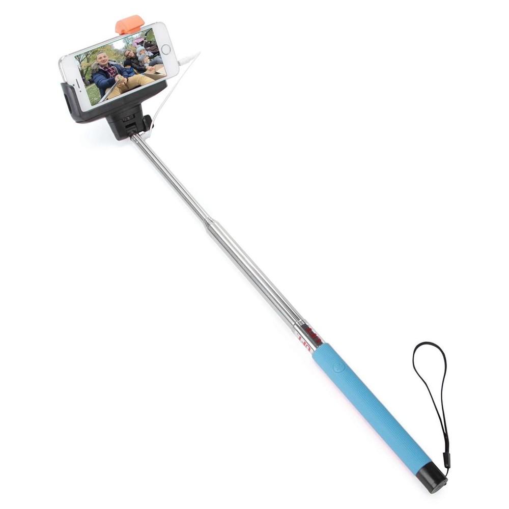 Монопод для селфи со шнуром cg ss4 blue фото №1