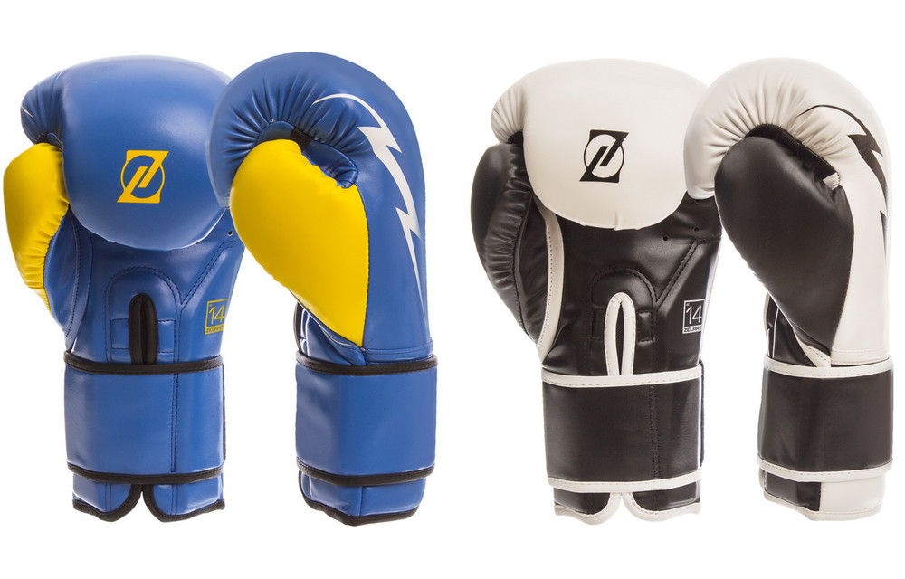 Перчатки боксерские на липучке zelart 1420: 10-14 унций, pu (2 цвета) фото №1