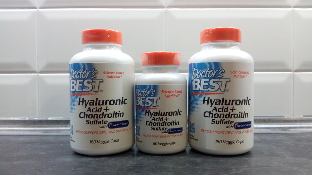 Doctors best, гиалуроновая кислота+хондроитин+коллаген 2 тип, 180 капс фото №1