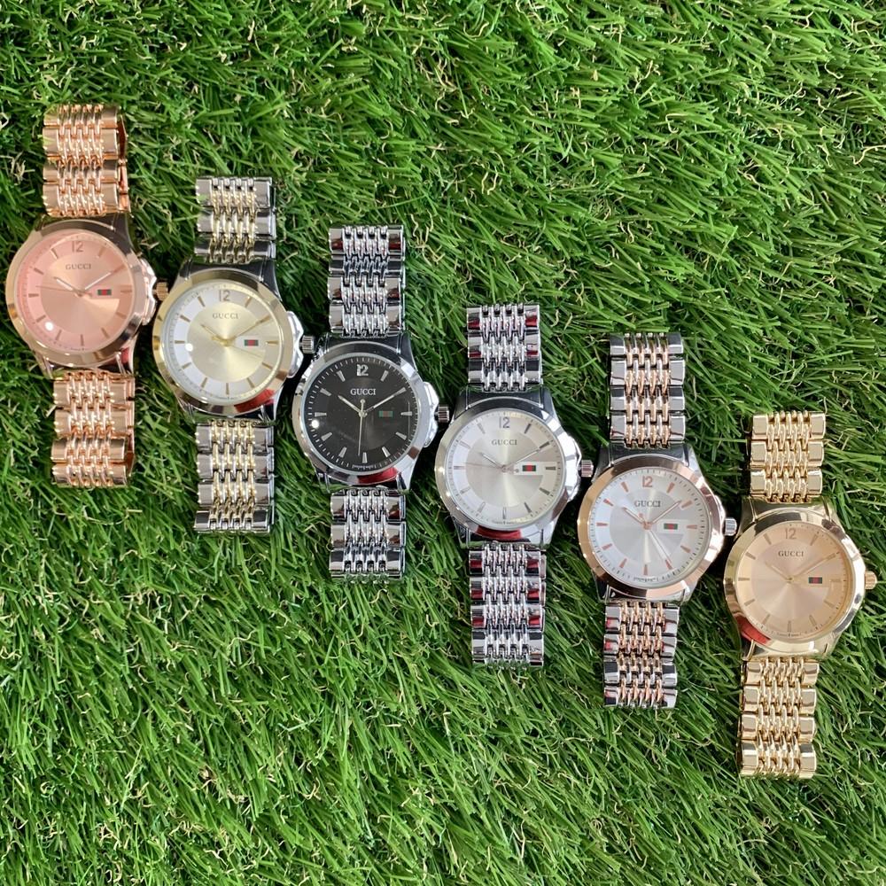Женские наручные часы металлические золотистые серебристые розовое золото фото №1