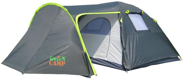 Палатка 4-х местная greencamp gc1009 (380x240x160 см) фото №1