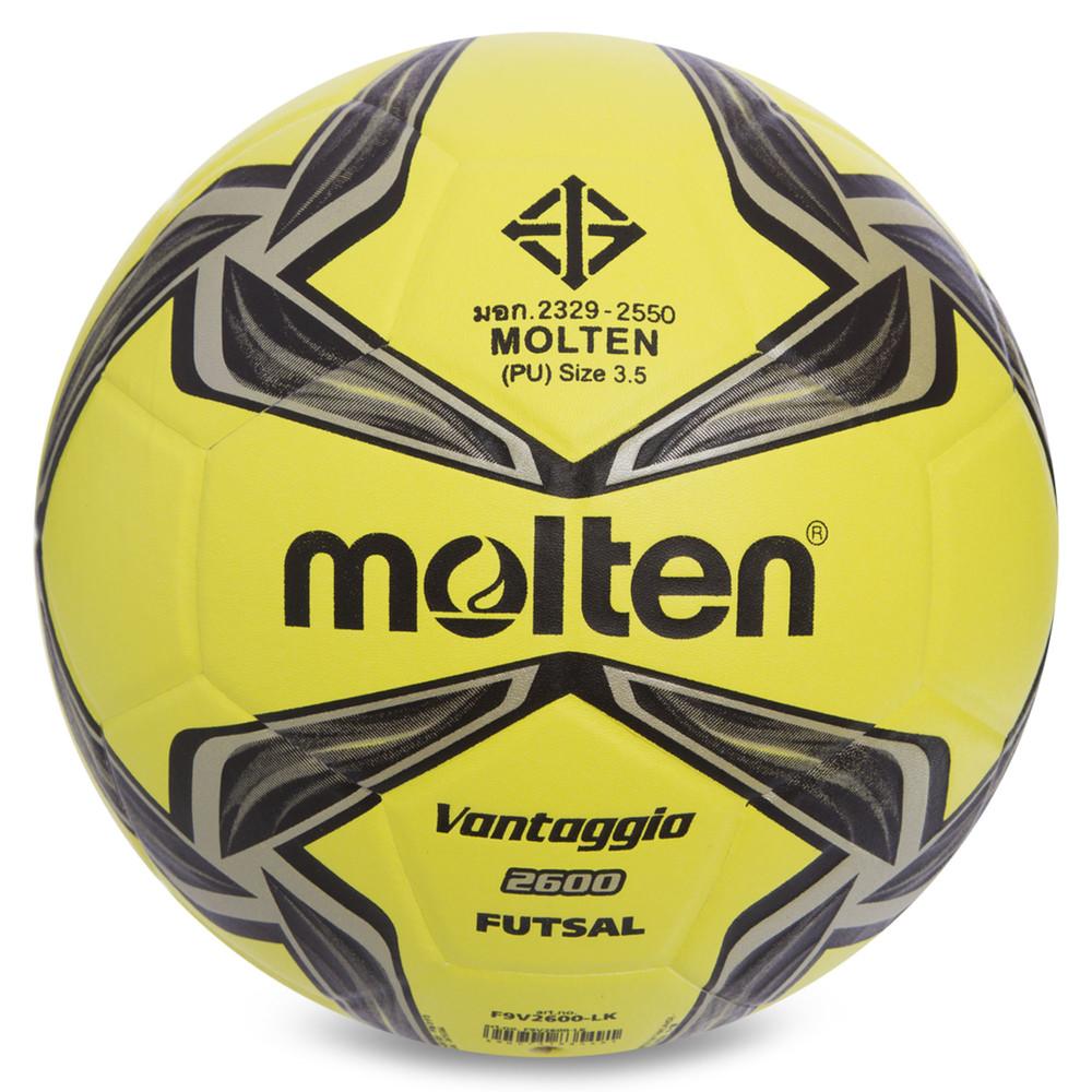 Мяч для футзала №4 molten f9v2600lk (футзальный мяч): размер 4, сшит вручную фото №1