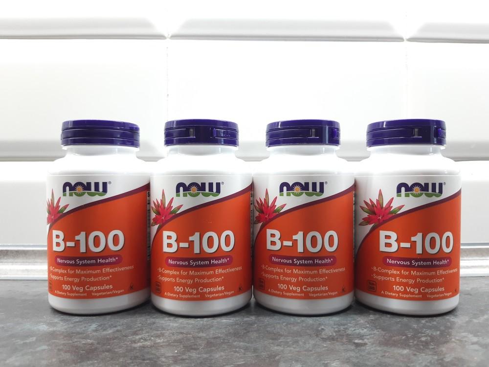 Now foods, b-100 (100 капс.), витамины в-100, вітаміни в-100 фото №1