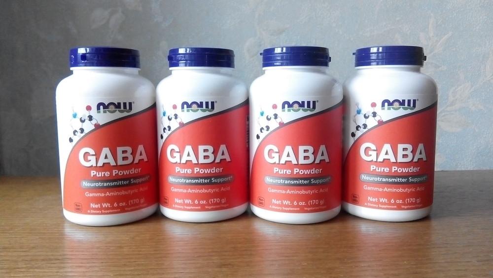 Now foods gaba (гамк), 170г порошок, гамма-аминомасляная кислота фото №1