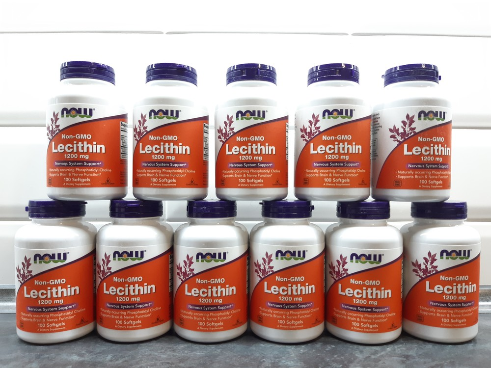 Лецитин now foods, 100 капсул по 1.200 мг фото №1