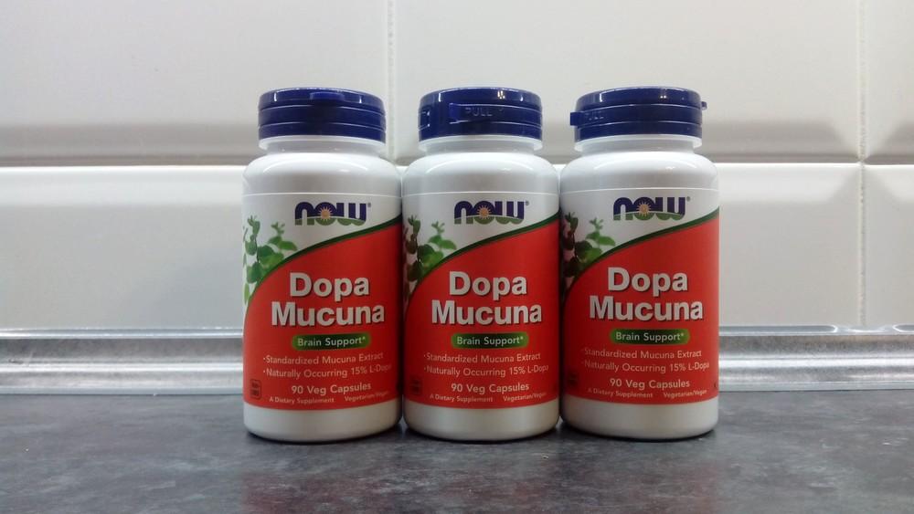 Now foods, dopa mucuna, 90 капсул, мукуна, адаптоген растительный фото №1