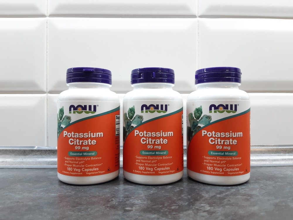 Now foods, калий цитрат (180 капс.), калій, potassium citrate фото №1