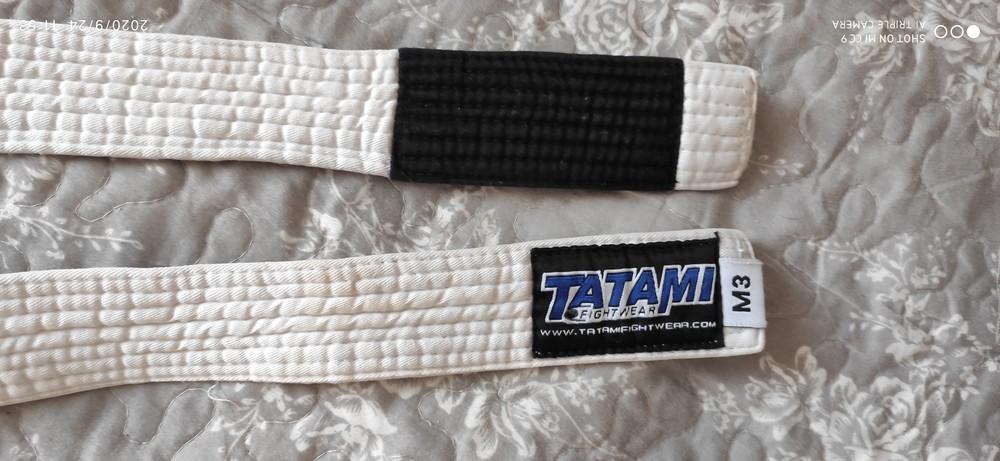 Пояс белый для единоборств айкидо tatami фото №1