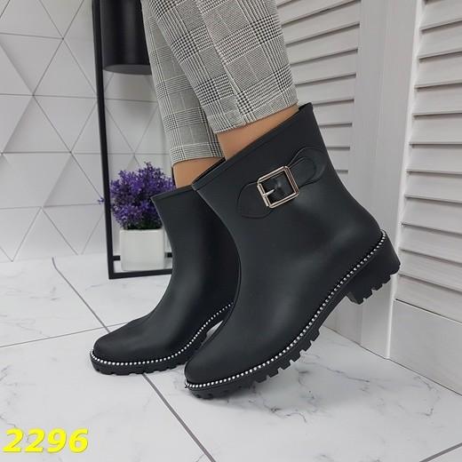 Ботинки полусапожки резиновые непромокаемые на флисе модельные фото №1