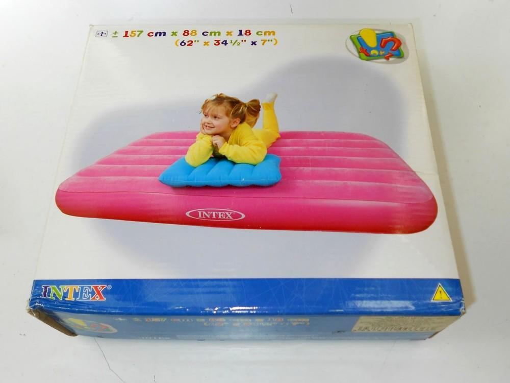 Детский надувной матрац intex с надувной подушкой фото №1