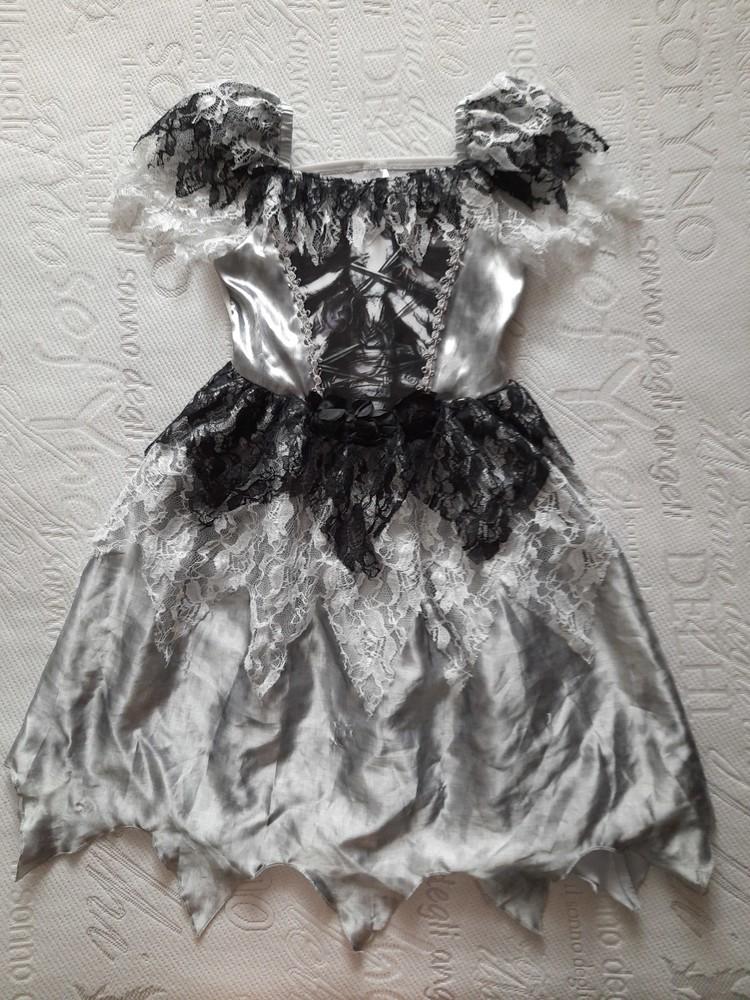 Платье невесты, карнавальное платье хеллоуин на 7-8 лет. фото №1