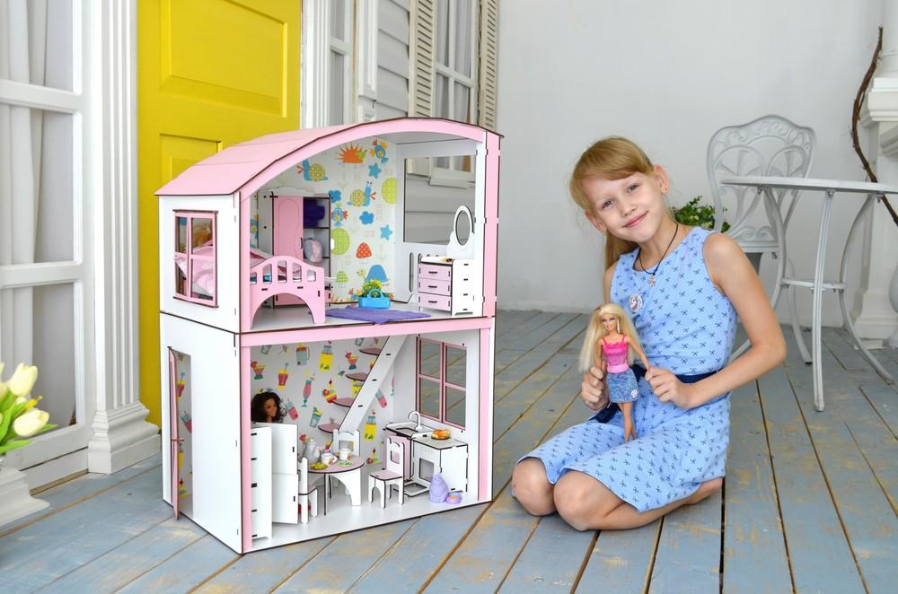 Домик для кукол барби. дерев'яний ляльковий будиночок лол омг фото №1