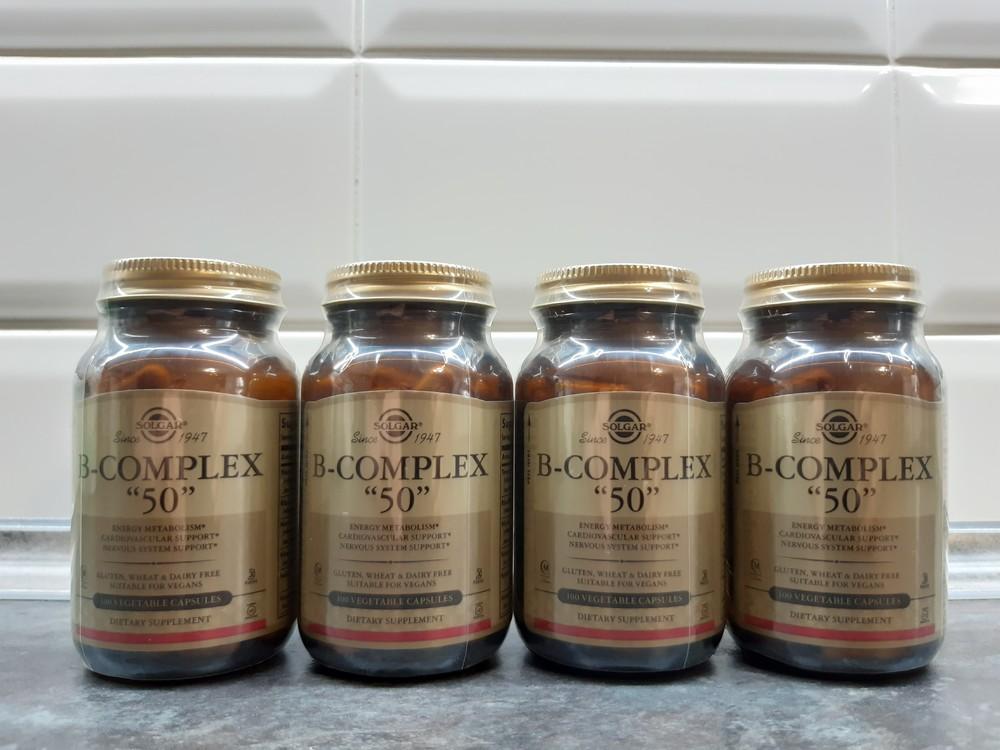Solgar, b-complex 50 (100 капс.), b-50 complex, витамины в-50 фото №1