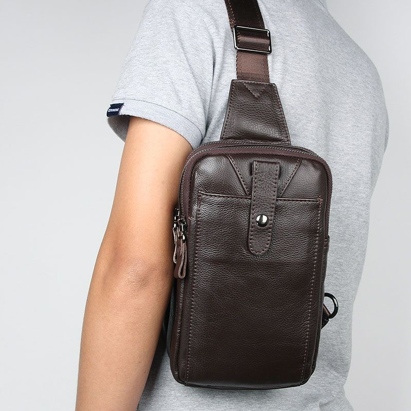 Рюкзак кожаный сумка через плече стиляга new 5 коричневая фото №1