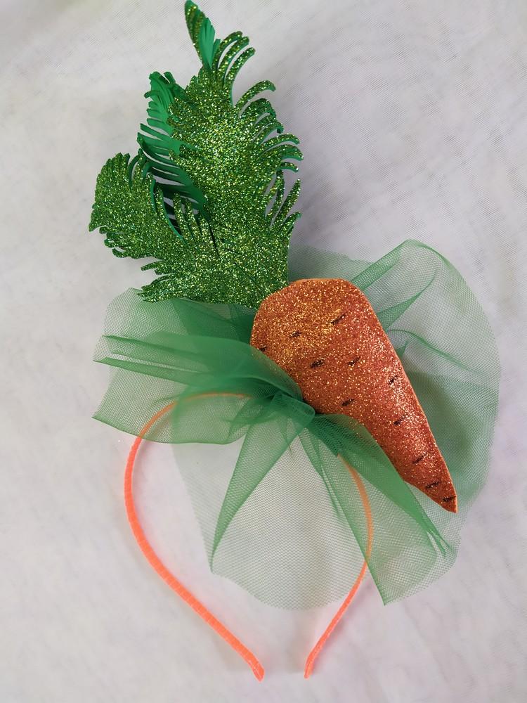 Обруч морковка, ободок морква, веночек морковь на праздник осени фото №1