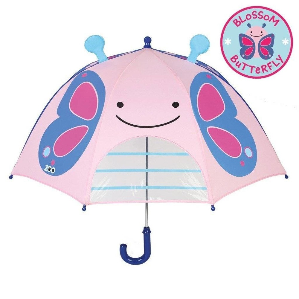 Детский зонтик. бабочка. skip hop zoo. уценка! ( слегка потертый принт) фото №1