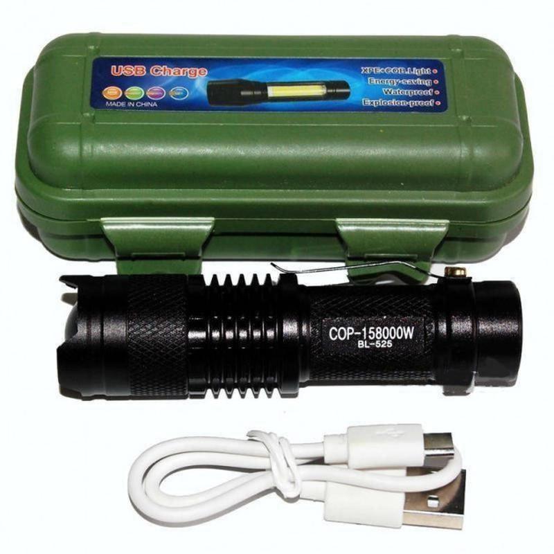 Светодиодный фонарь с аккумулятором police bl-525 в кейсе фонарик фото №1