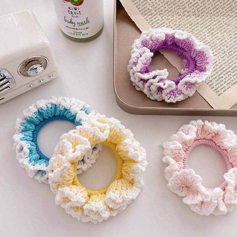 Резинка для волос. вязанный ажур. разные цвета! фото №1
