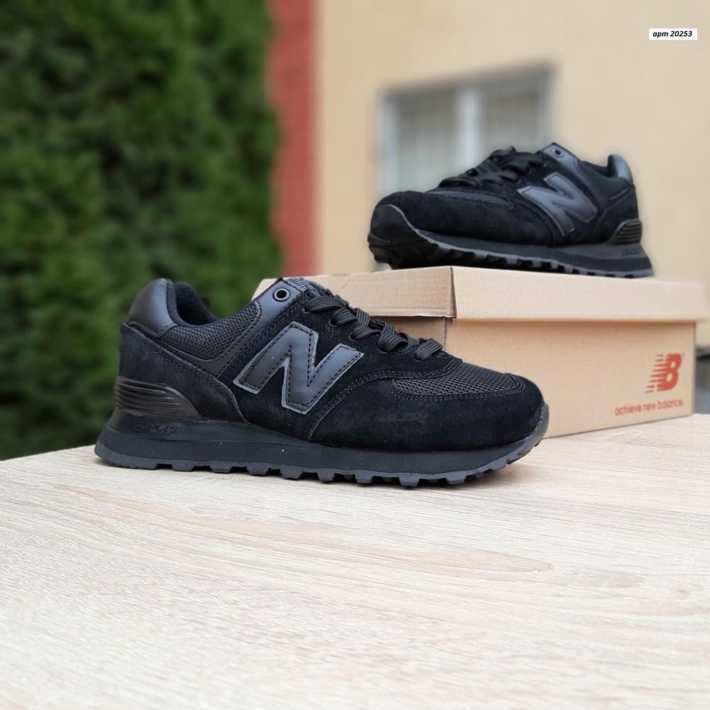 Кроссовки женские new balance 574, черные фото №1