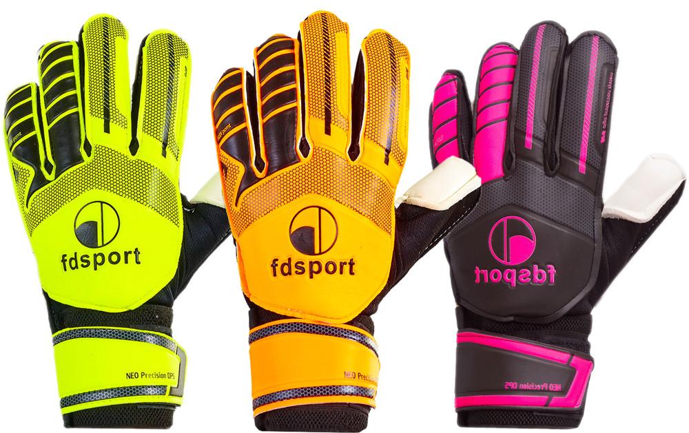 Перчатки вратарские юниорские с защитными вставками на пальцах fdsport fb-579: размер 7-8 фото №1