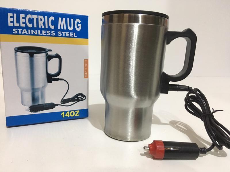 Термокружка автомобильная electric mug сup 2240 450 мл 12v фото №1