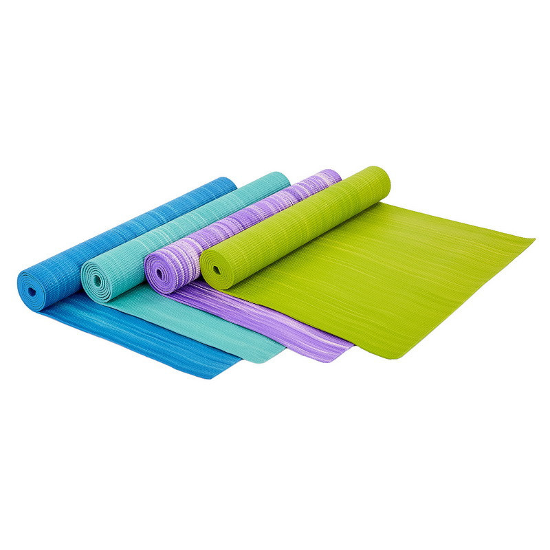Коврик для фитнеса и йоги pvc 6983: толщина 4мм, размер 1,73x0,61м фото №1