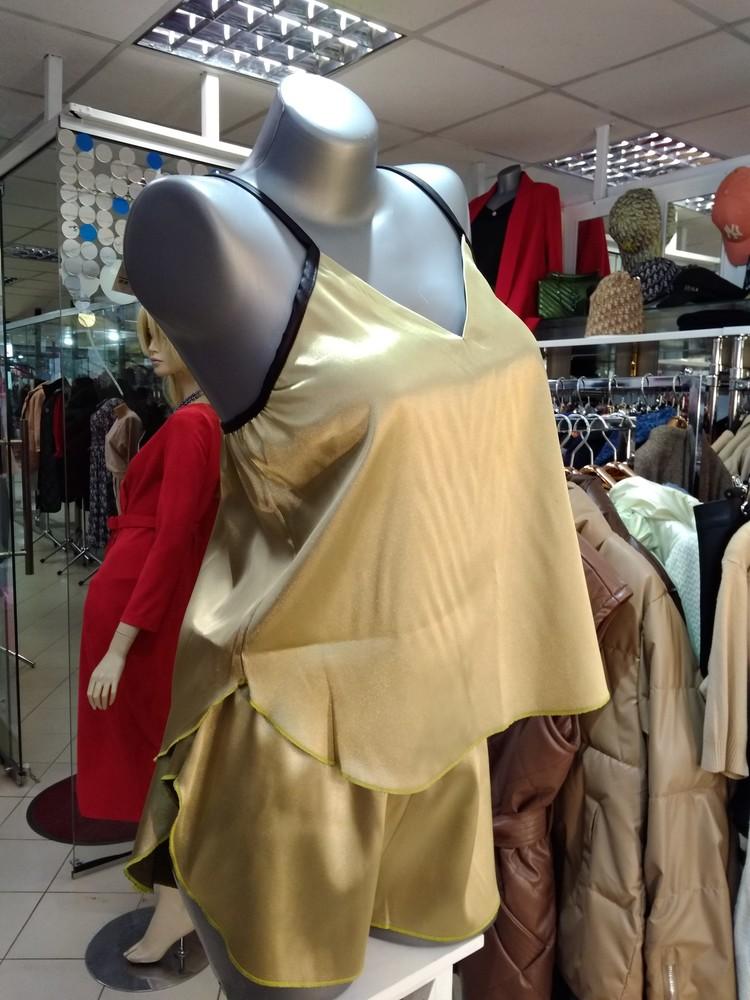 ► атласная женская пижама, женская ночнушка, комплект женского белья, фото №1