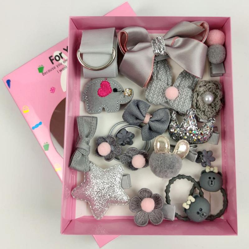 Резинки для волос для девочек детский набор аксессуары для волос magic princess серебро фото №1