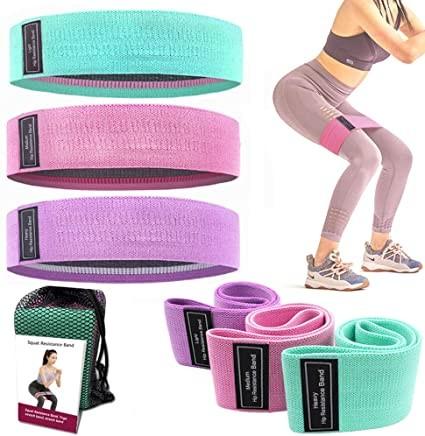 Супер качество набор тканевых фитнес резинки , фитнес ленты 3 штуки фото №1