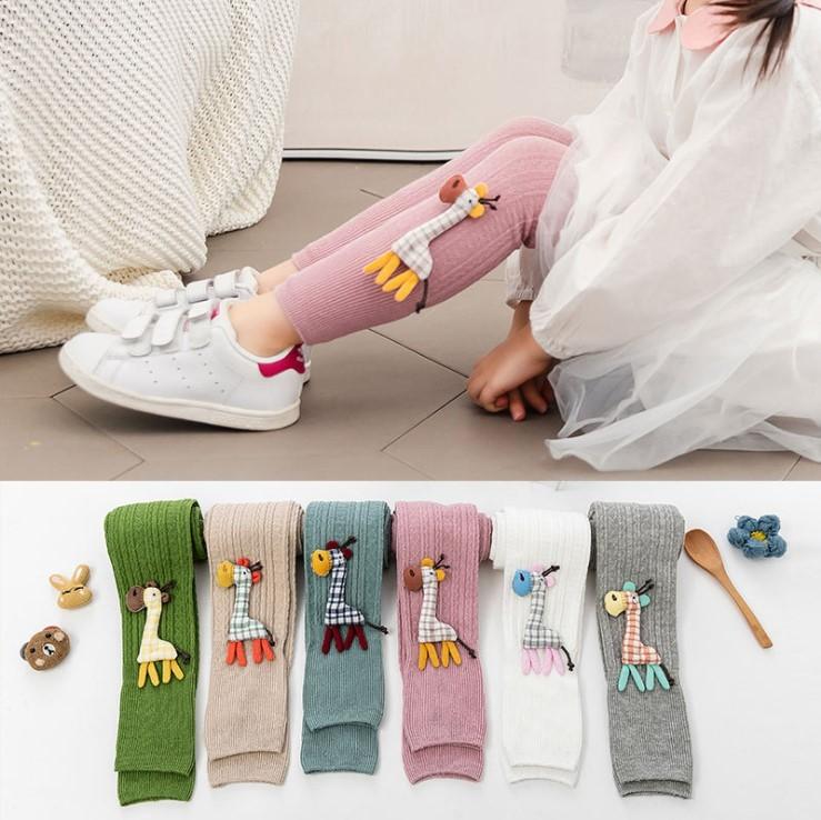 Лосины детские «жирафик». лосины с аппликацией для девочек. весна – осень фото №1