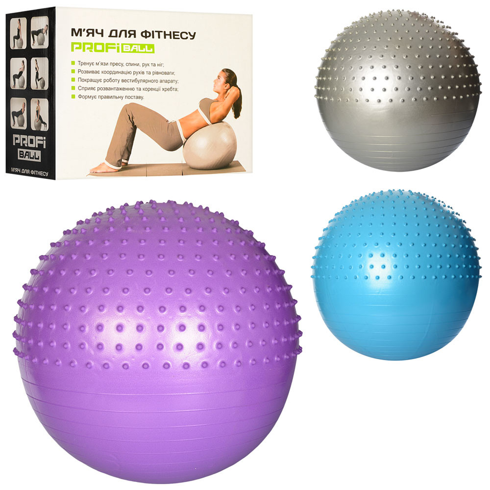 Мяч для фитнеса-65см ms 1652 фото №1