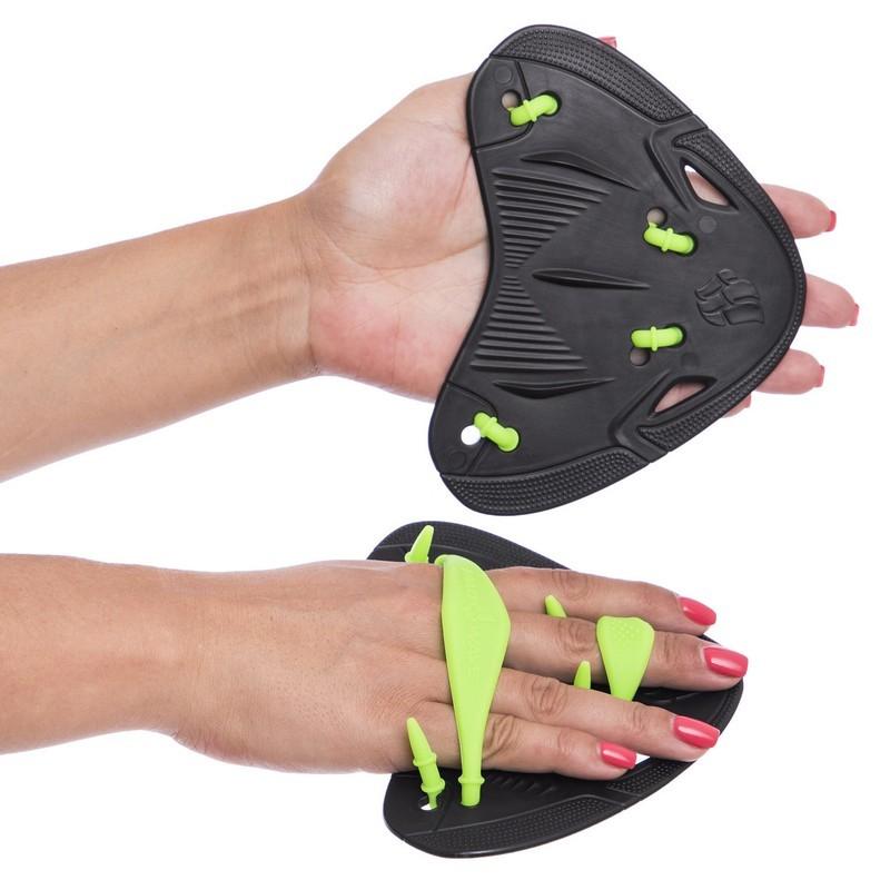 Лопатки для плавания гребные madwave finger paddles 074604: размер 15x15,5см фото №1