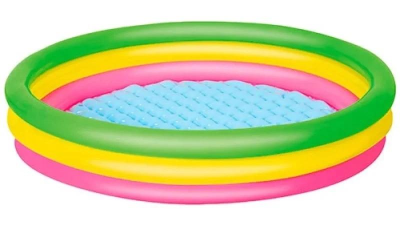Детский надувной бассейн bestway 102х25 см, разноцветный фото №1