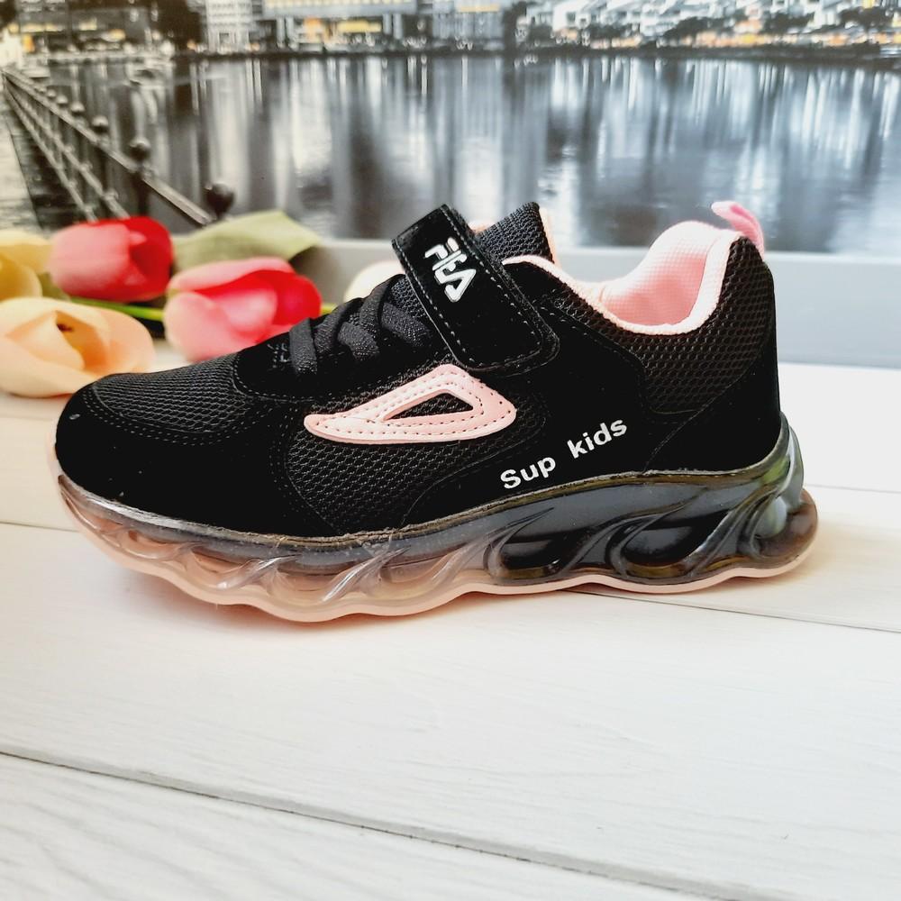 Шикарная модель черных кроссовок на девочку 31,33,34 фото №1
