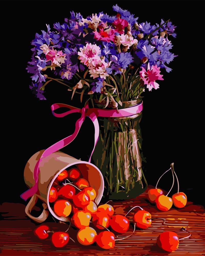 Картина по номерам цветочный натюрморт 40*50см фото №1