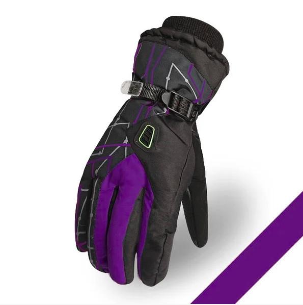 Мужские горнолыжные перчатки kineed (перчатки лыжные) фиолетовый, размер m-l уценка!!! фото №1