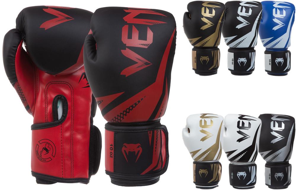 Перчатки боксерские на липучке venum challenger 0866: 8-12 унций (7 цветов) фото №1