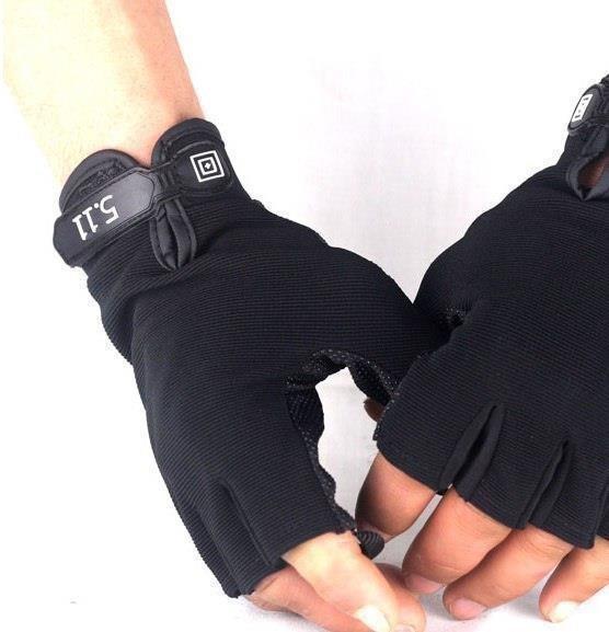 Тактические перчатки 5.11 беспальцевые (вело, мото) фото №1